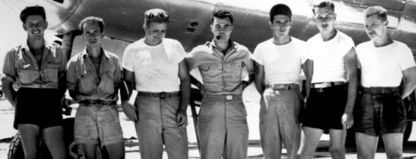 L'équipage du  bombardier B-29 Enola Gay